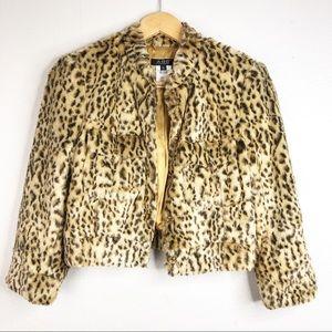 🌿 ABS All Schwartz Leopard Teddy Coat Faux Fur